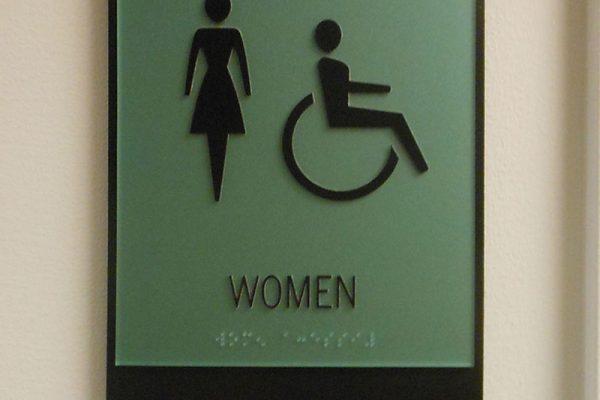 Westlake Restroom sign
